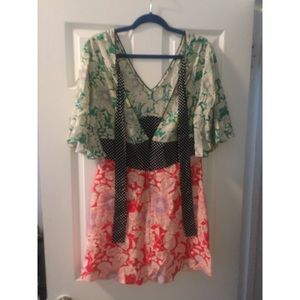4e3a01986e99 Topshop Dresses | Mix Floral Print Mini Skater Dress | Poshmark